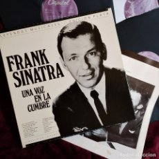 Discos de vinilo: FRANK SINATRA, UNA VOZ EN LA CUMBRE, 3 LP BOX, RECOPLILATORIO, ESPAÑA 1989,CON LIBRETO, (VG+_EX). Lote 265444069