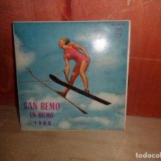 Discos de vinilo: SAN REMO EN RITMO 1962 - EN RITMO - EP - DISPONGO DE MAS DISCOS DE VINILO. Lote 265468969