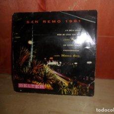Discos de vinilo: SAN REMO 1961 - EP - DISPONGO DE MAS DISCOS DE VINILO. Lote 265469344