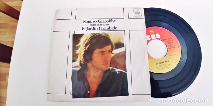 SANDRO GIACOBBE-SINGLE EL JARDIN PROHIBIDO-EN ESPAÑOL (Música - Discos - Singles Vinilo - Canción Francesa e Italiana)