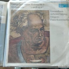 Discos de vinilo: DISCO VINILO LP GEWANDHAUS-ORCHESTER LEIPZIG DIRIGENT: FRANZ KONWITSCHNY LUDWIG VAN BEETHOVEN. Lote 265521534