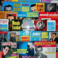 Discos de vinilo: MANOLO ESCOBAR. GRAN LOTE. 21 SINGLES. MUY BUEN ESTADO. HAN ESTADO MUY BIEN CUIDADOS. DISCOS BELTER. Lote 265539089