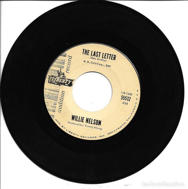 WILLIE NELSON - HALF A MAN + THE LAST LETTER SINGLE USA SIN PORTADA 1963 (Música - Discos - Singles Vinilo - Country y Folk)