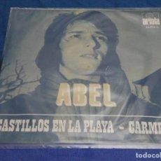 Discos de vinilo: DISCO 7 PULGADAS SINGLE ESPAÑOL ABEL CASTILLOS EN LA ARENA 1971 BUEN ESTADO. Lote 265658279