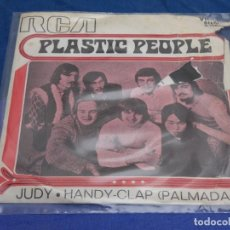 Discos de vinilo: DISCO 7 PULGADAS SINGLE ESPAÑOL PROMOCIONAL PLASTIC PEOPLE JUDY TAPA MUY ROTA DISCO OK. Lote 265658384