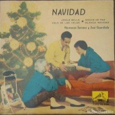 Discos de vinilo: EP / HERMANAS SERRANO Y JOSÉ GUARDIOLA – NAVIDAD, 1959. Lote 265659234