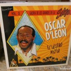 Discos de vinilo: LP GALERIA DE LOS GRANDES DE LA SALSA 3 OSCAR D´LEON EL SALSERO MAYOR, BUEN ESTADO. Lote 265683514