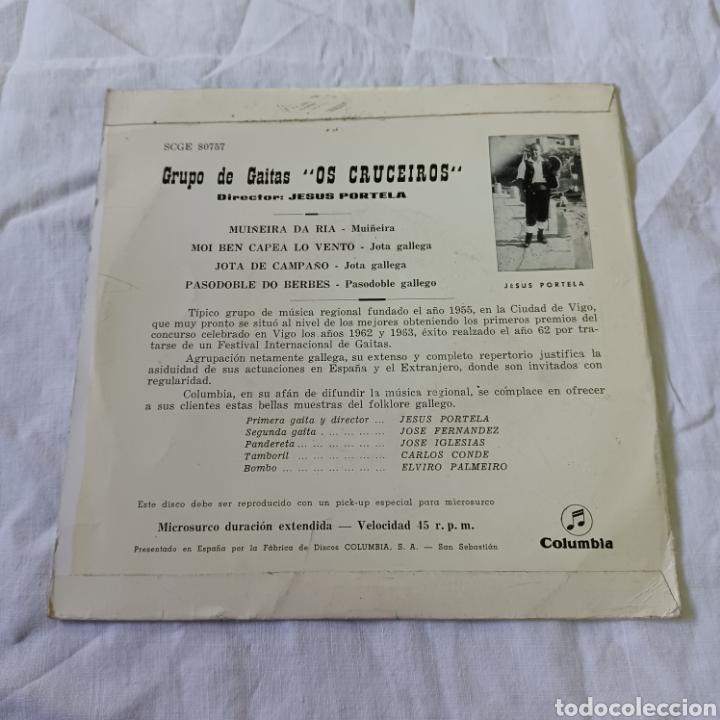 Discos de vinilo: OS CRUCEIROS - GRUPO DE GAITAS - MUÑEIRA DA RIA ... COLUMBIA 1964 - Foto 2 - 265700829