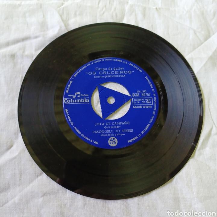 Discos de vinilo: OS CRUCEIROS - GRUPO DE GAITAS - MUÑEIRA DA RIA ... COLUMBIA 1964 - Foto 3 - 265700829