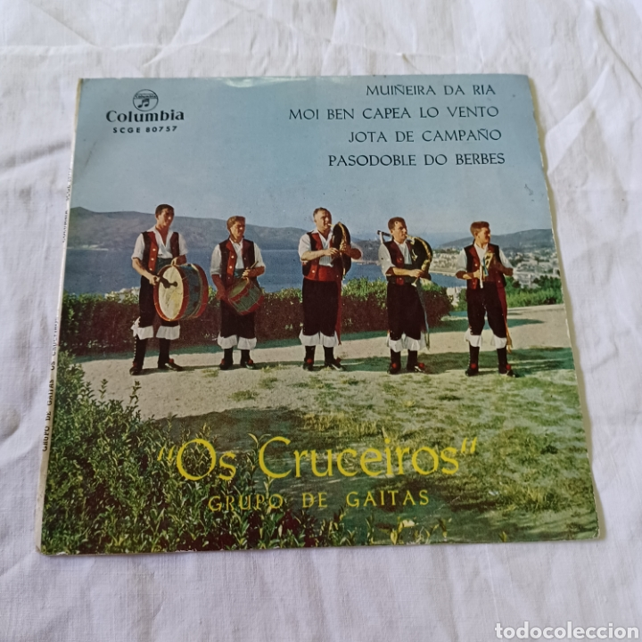 Discos de vinilo: OS CRUCEIROS - GRUPO DE GAITAS - MUÑEIRA DA RIA ... COLUMBIA 1964 - Foto 5 - 265700829