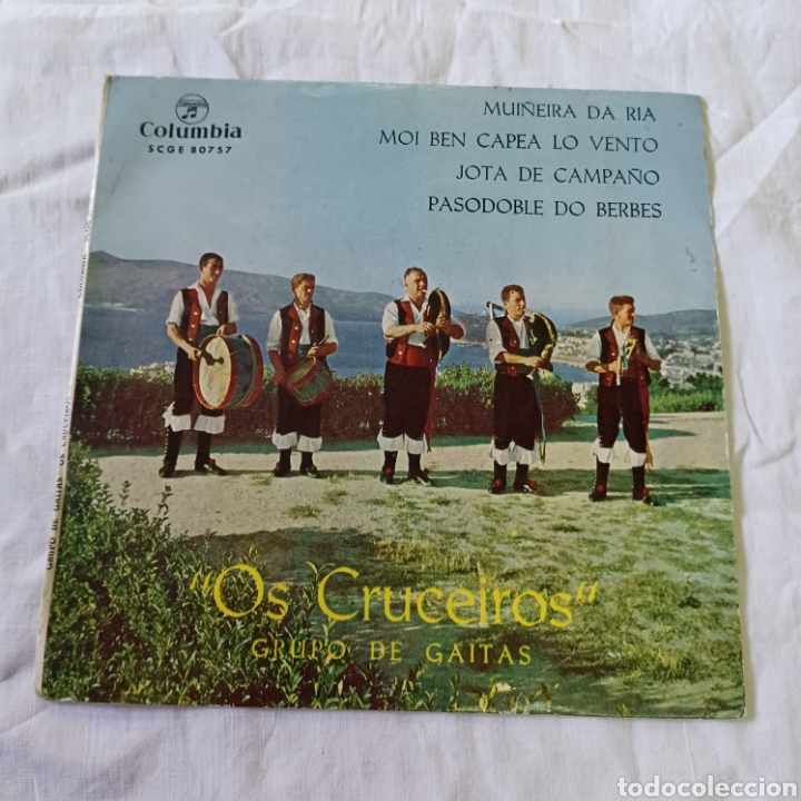 OS CRUCEIROS - GRUPO DE GAITAS - MUÑEIRA DA RIA ... COLUMBIA 1964 (Música - Discos - Singles Vinilo - Country y Folk)