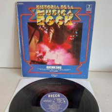 Discos de vinilo: GENESIS / HISTORIA DE LA MÚSICA ROCK / 7 / LP-DECCA-1981 / MBC. ***/***. Lote 265761789