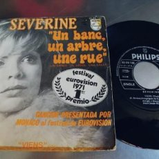 Discos de vinil: SEVERINE-SINGLE EUROVISION 1971. Lote 265780554