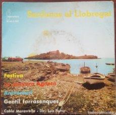 Discos de vinilo: EP / SARDANAS AL LLOBREGAT, COBLA MARAVELLA - FESTIVA +3, 1962. Lote 265794604