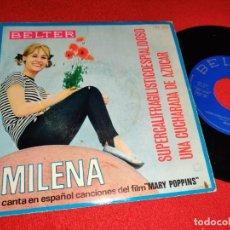 Dischi in vinile: MILENA SUPERCALIFRAGILISTICOESPIALIDOSO/UNA CUCHARADA DE AZUCAR 7 SINGLE 1966 MARY POPPINS SPAIN. Lote 265809499
