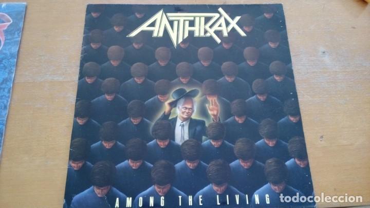 ANTHRAX AMONG THE LIVING LP SPAIN 1987 (Música - Discos - LP Vinilo - Heavy - Metal)