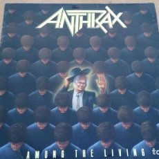 Discos de vinilo: ANTHRAX AMONG THE LIVING LP SPAIN 1987. Lote 265832729