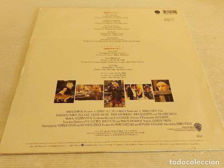Discos de vinilo: B.S.O. / MADONNA / WHOS THAT GIRL / LP - SIRE-1987 / MBC. ***/*** - Foto 2 - 265837719