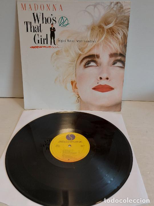 B.S.O. / MADONNA / WHO'S THAT GIRL / LP - SIRE-1987 / MBC. ***/*** (Música - Discos - LP Vinilo - Bandas Sonoras y Música de Actores )