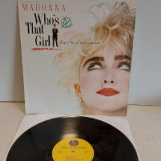 Discos de vinilo: B.S.O. / MADONNA / WHO'S THAT GIRL / LP - SIRE-1987 / MBC. ***/***. Lote 265837719