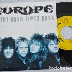 Discos de vinil: EUROPE / LET THE GOOD TIMES ROCK/SINGLE PROMOCIONAL. Lote 265849259