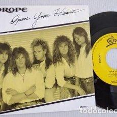 Discos de vinil: EUROPE - OPEN YOUR HEART (CBS) SINGLE ESPAÑA PROMOCIONAL. Lote 265849754