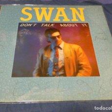Discos de vinilo: MUSICA ELECTRONICA MAXI SINGLE FRANCIA 1986 SWAN DON´TALK ABOUT IT VINILO OK. Lote 265857149