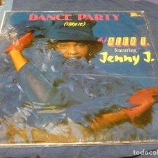Discos de vinilo: MUSICA ELECTRONICA MAXI SINGLEDANCE PARTY DJ ALEX T FEAT JENNY J BUEN ESTADO. Lote 265857334