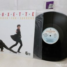 Discos de vinilo: ROXETTE --DRESSED FOR SUCCESS-HISPAVOX-1989--MADRID--. Lote 265890173