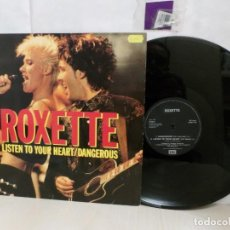 Discos de vinilo: ROXETTE -LISTEN TO YOU HEART / DANGEROUS -1990-EMI SVENSKA AB--. Lote 265892303