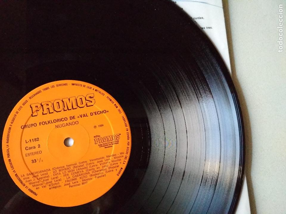 Discos de vinilo: VAL D,ECHO NUGANDO 1992 GRUPO FOLKLORICO,HUESCA - Foto 2 - 265916358