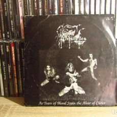 Discos de vinil: PROFANATICA - AS TEARS OF BLOOD STAIN THE ALTAR OF CHRIST. Lote 265943658