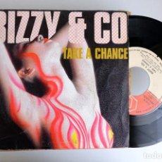 Discos de vinilo: BIZZY & GO. TAKE A CHANCE. SINGLE VINILO. Lote 265973698
