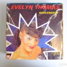 Discos de vinilo: EVELYN THOMAS - HIGH ENERGY-INSTRUMENTAL DUB - SINGLE. Lote 265975418