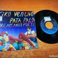 Discos de vinilo: KIKO VENENO PATA PALO SINGLE VINILO DEL AÑO 1982 DISEÑO PORTADA CEESEPE MOVIDA RAIMUNDO AMADOR. Lote 265975608