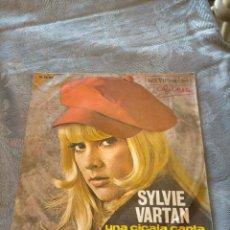 Discos de vinilo: DISCO VINILO SINGLE SYLVIE VARTAN UNA CICALA CANTA (PER UN'ESTATE SOLA) COME UN RAGAZZO. Lote 265982138