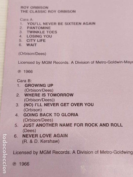 Discos de vinilo: ROY ORBISON / THE CLASSIC / LP - DERAM-1989 / MBC. ***/*** - Foto 3 - 265985228