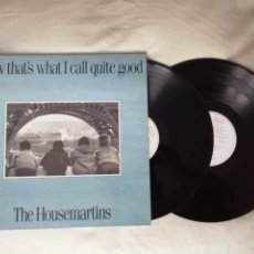 Disques de vinyle: THE HOUSEMARTINS NOW THAT'S WHAT I CALL QUITE GOOD DOBLE 2 LPS IMPECABLE. Lote 266010348