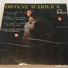 Discos de vinilo: EP DIONNE WARWICK - WALK ON BY Y OTROS TEMAS - FONTANA 466.806TE -PEDIDO MINIMO 7€. Lote 266025793
