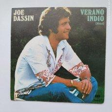 Discos de vinil: JOE DASSIN. VERANO INDIO (AFRICA). YO HE DICHO NO. SINGLE. TDKDS21. Lote 266054098