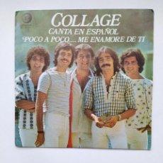Disques de vinyle: COLLAGE CANTA EN ESPAÑOL POCO A POCO... ME ENAMORÉ DE TI - SINGLE. TDKDS21. Lote 266060198