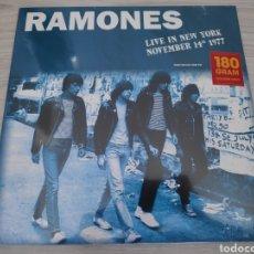 Discos de vinilo: ÁLBUM LP DISCO VINILO THE RAMONES LIVE IN NEW YORK 1977 NUEVO. Lote 266062793