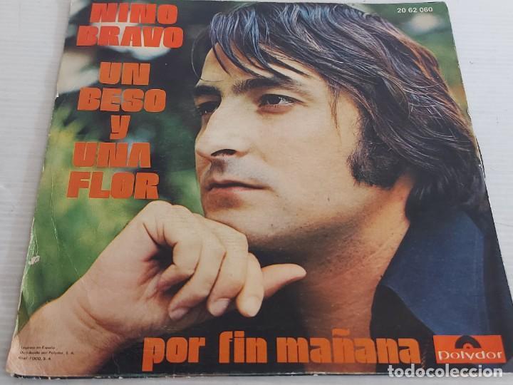 Discos de vinilo: NINO BRAVO / UN BESO Y UNA FLOR / SINGLE - POLYDOR-1972 / VINILO IMPECABLE. ***/**** - Foto 2 - 266089688