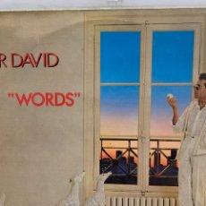 Disques de vinyle: VIN1850 F R DAVID - WORDS VINILO SEGUNDA MANO. Lote 266091998