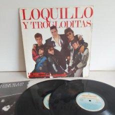 Disques de vinyle: LOQUILLO Y TRIOGLODITAS / A POR ELLOS...QUE SON POCOS.../ DOBLE LP-HISPAVOX-1989 + LIBRETO / ***/***. Lote 266180023