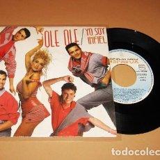 Discos de vinilo: OLE OLE Y MARTA SANCHEZ - YO SOY INFIEL - SINGLE - 1987 - MUY BUSCADO. Lote 266183798