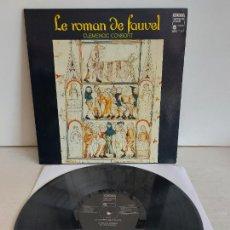 Discos de vinilo: CLEMENCIC CONSORT / LE ROMAN DE FAUVEL / LP-GATEFOLD - EDIGSA-1980 / MBC. ***/***. Lote 266186528