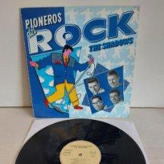 Discos de vinilo: THE SHADOWS / PIONEROS DEL ROCK / LP-PROMO - EMI-1989 / MBC. ***/***. Lote 266207848
