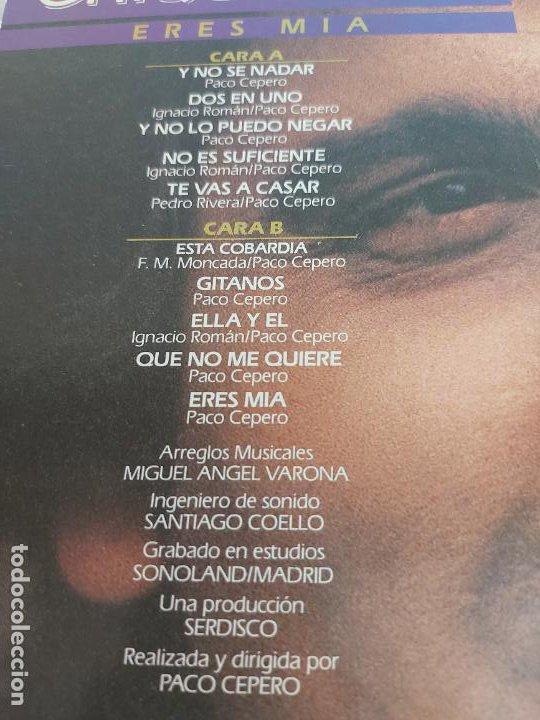 Discos de vinilo: CHIQUETETE / ERES MÍA / LP - ZAFIRO-1984 / MBC. ***/*** LETRAS. - Foto 3 - 266209483