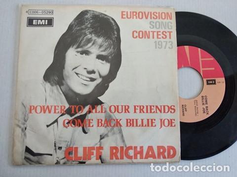 CLIFF RICHARD – POWER TO ALL OUR FRIENDS 1973 UK EDIC BELGA (Música - Discos - Singles Vinilo - Festival de Eurovisión)